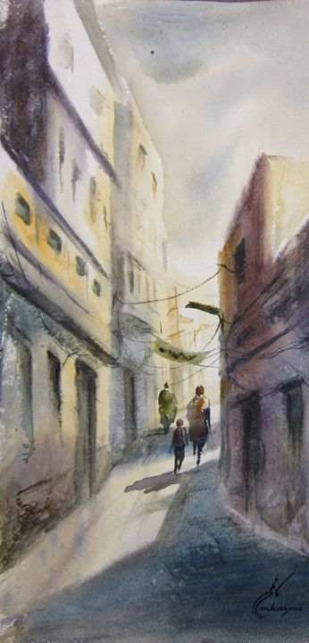 Narrow Street of Old Lahore - M Kazmi