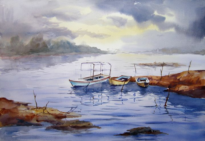 Pakistani Paintings - M Kazmi