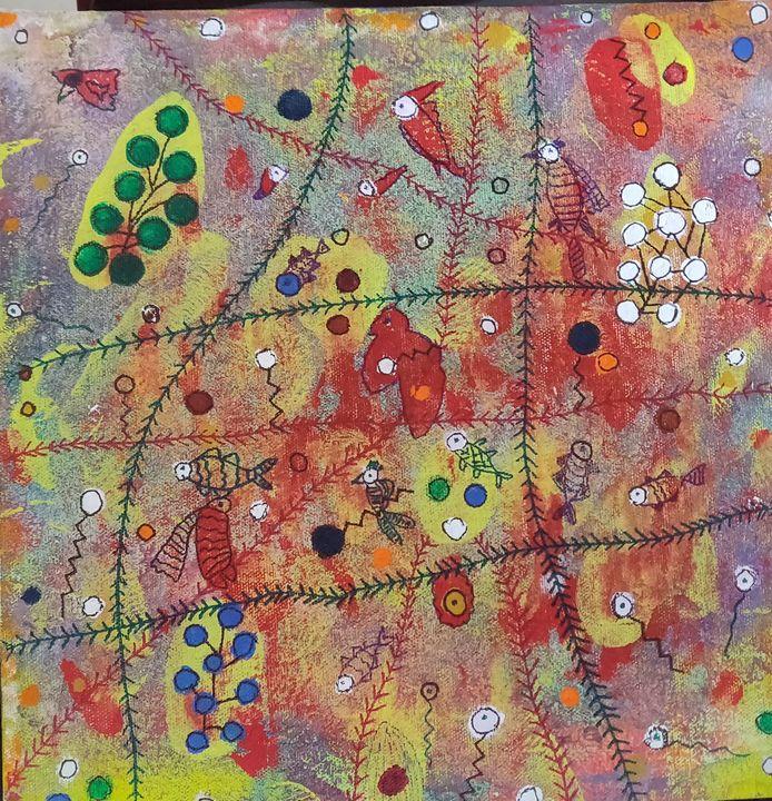 Abstract fruits forever' - Minati Miraya and Sumiit  Tripathy creations