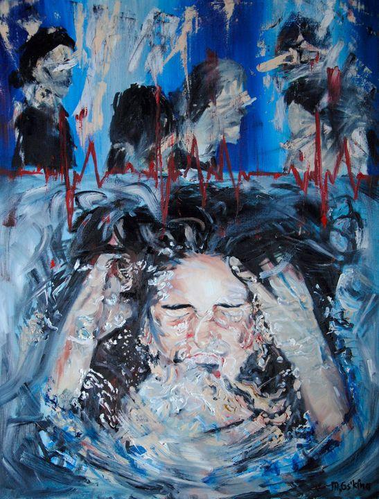 CALM oil painting 60*50 - Maria Oskina