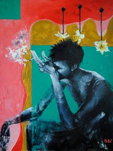 THINKER oil painting 60*80