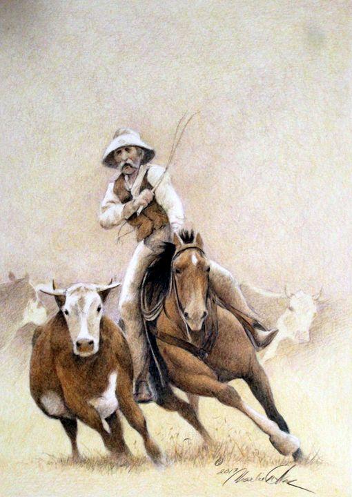 """""""Bunch Quitter"""" - Charlie Walker, American Artist"""