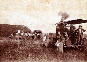 Threshing Crew and Steam Engine