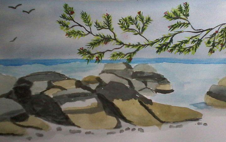 Stone beach - angel potlot