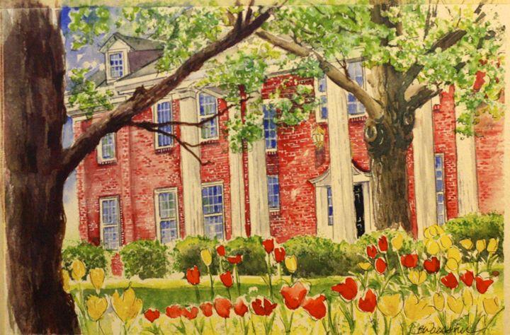 Chi Omega, Springtime - art.by.beth