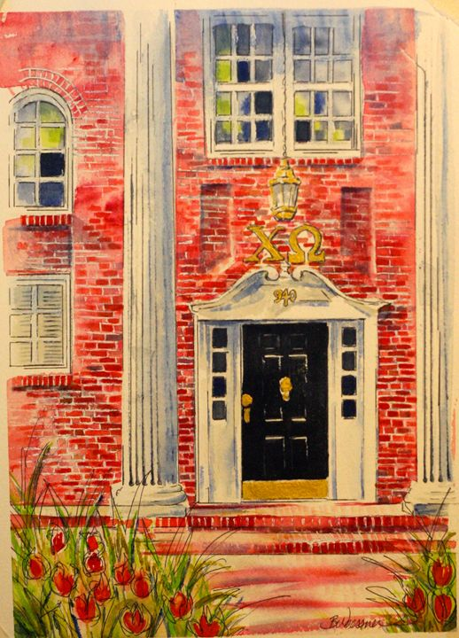 Front Door-Chi Omega, U of A - art.by.beth