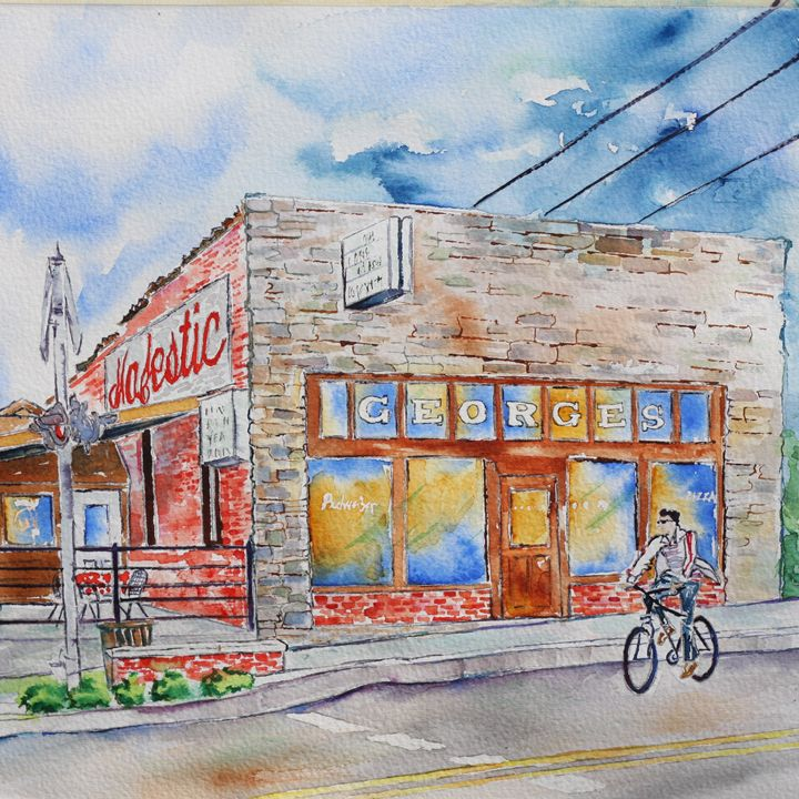 George's Majestic Lounge, Dickson St - art.by.beth