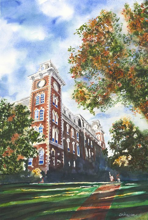 Old Main in the fall - art.by.beth
