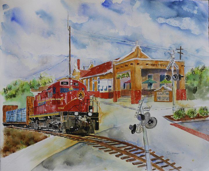 Train Depot, Dickson Street - art.by.beth