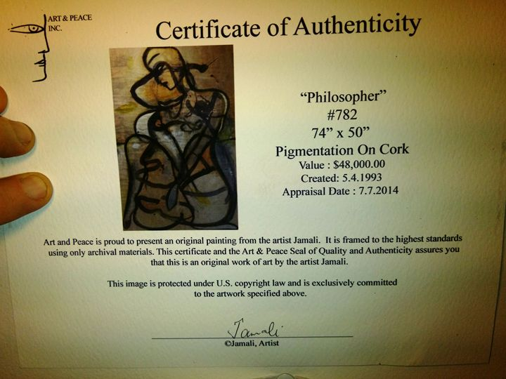 """Philosopher"" - Jamali Art Resale"