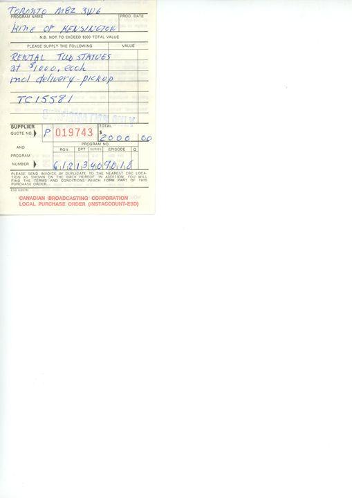 Receipt-rental of Woman and Man - Elisabeth van Duffelen