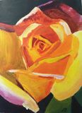 Original painting of a yellow rose
