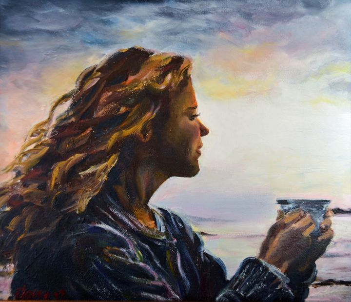 Evening Coffee - Elaine Berger