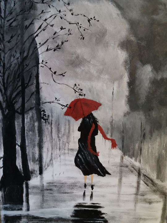 A Wet and Windy Day - Paintings of a Difference
