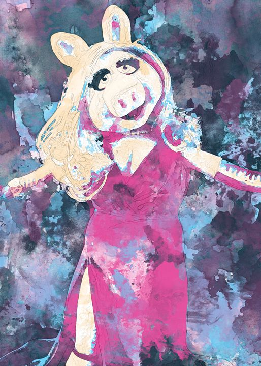 Miss Piggy - Nerdiful Art