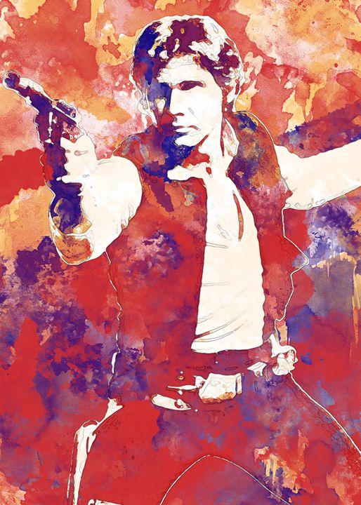 Han Solo - Nerdiful Art