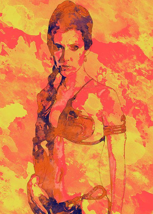 Princess Leia - Slave Bikini - Nerdiful Art