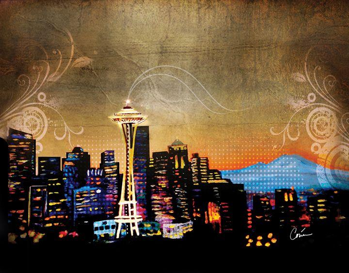 Seattle Skyline - CorinaGallery