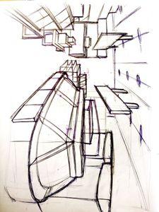 sketch of a shop