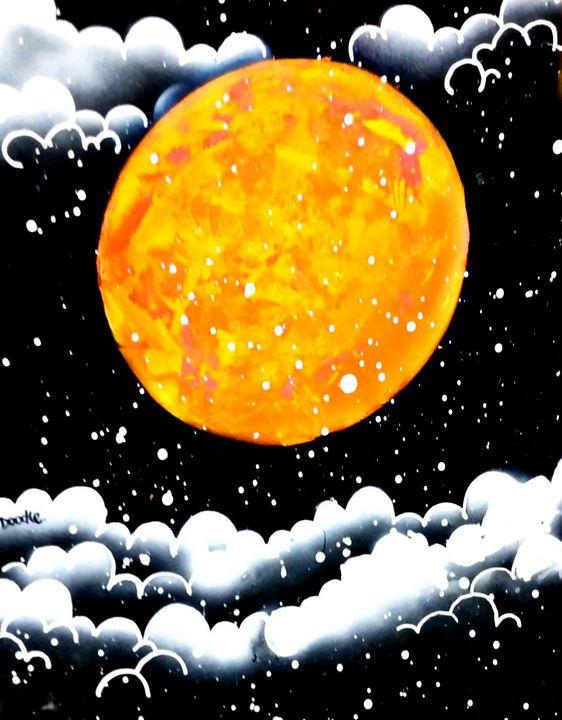 Orange Moon - Doodle