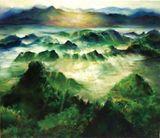 53cm(w) x 45.5cm(h) oil painting