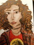 Watercolor portrait commission.