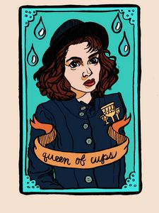 Veronica as the Queen of Cups