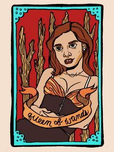 Katherine as the Queen of Wands