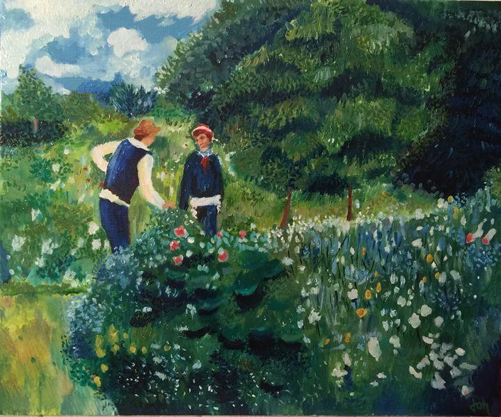 la cueillette des fleurs - Joh's Gallery