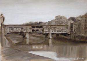 Ponte Vecchio, Florence. Life sketch