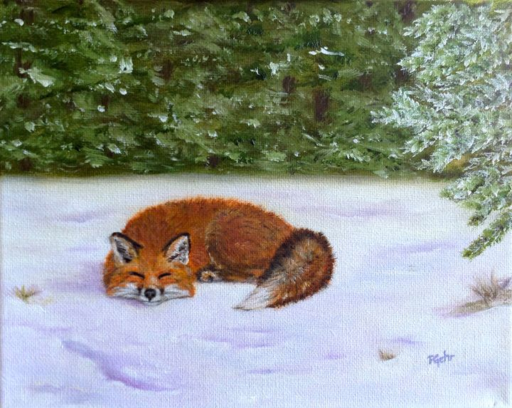 The Red Fox of Winter - Dr Pat's Art
