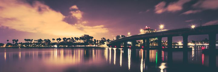 San Diego Bridge at Dusk - Landscapes - The Visua1 Artist
