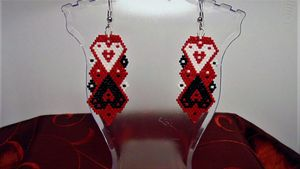 Beaded Valentine Earrings
