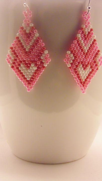 Diamond Shape Heart Earrings - Designs By SEA