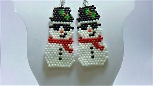Sunglasses Snowman Earrings