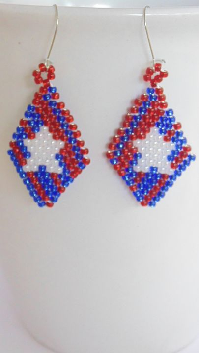 4th of July Earrings - Designs By SEA