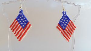 4th of July Flag Earrings