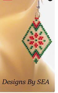 Christmas Poinsetta Earrings
