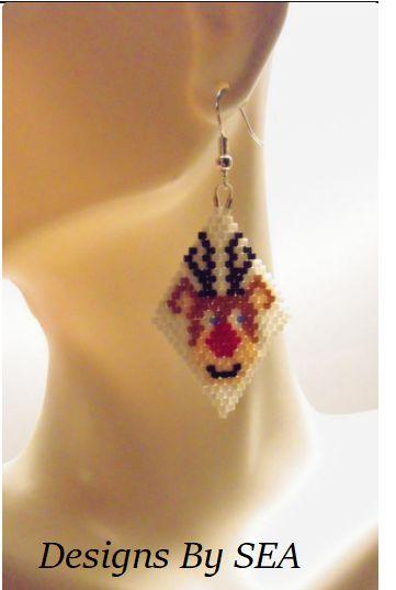 Christmas Reindeer Earrings - Designs By SEA