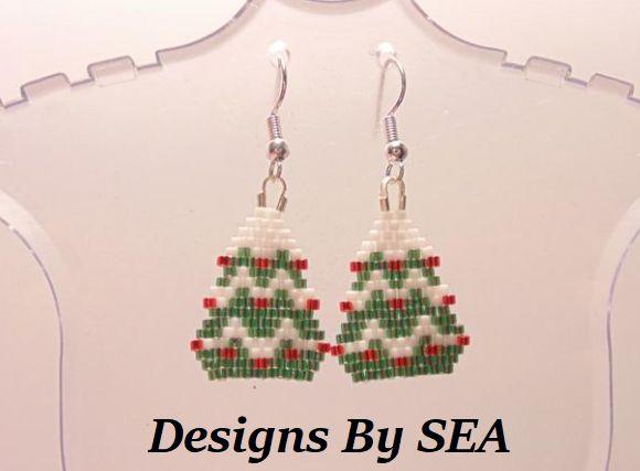 Christmas Tree Earrings - Designs By SEA