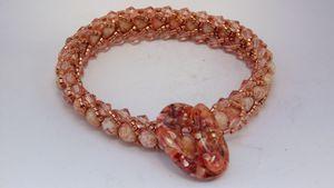 Flat Spiral Weave Bracelet