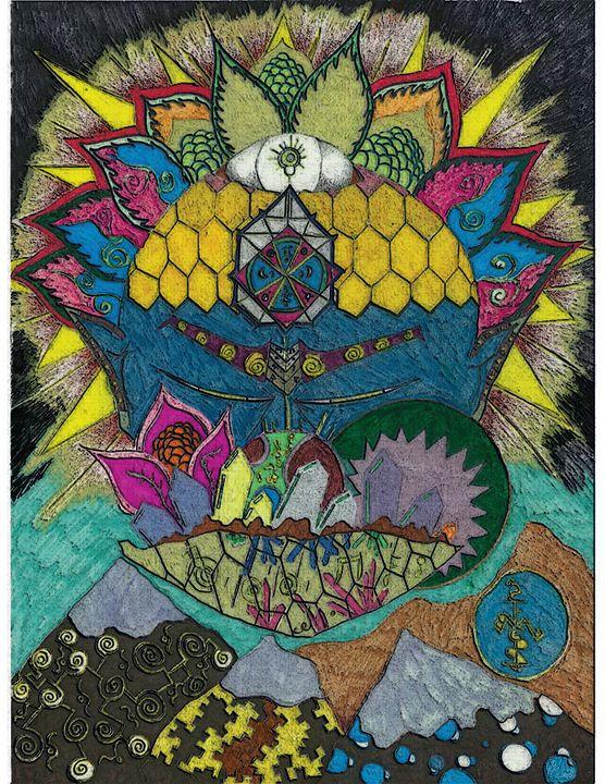 Blue Monkey Mountain - Activated Artwork