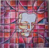 Original Painting Drama Masks Sad