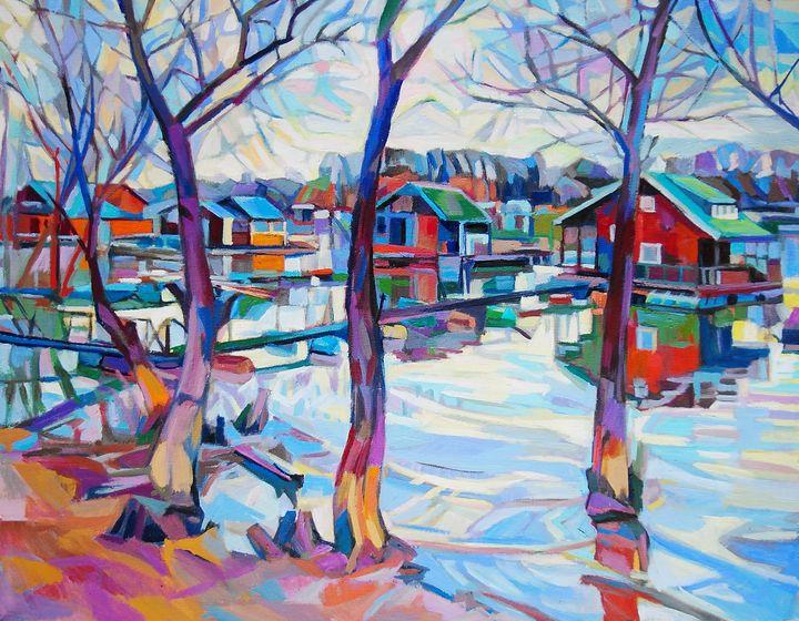 At the river #1 / 70 x 55 cm (2019) - Maja Djokic Mihajlovic