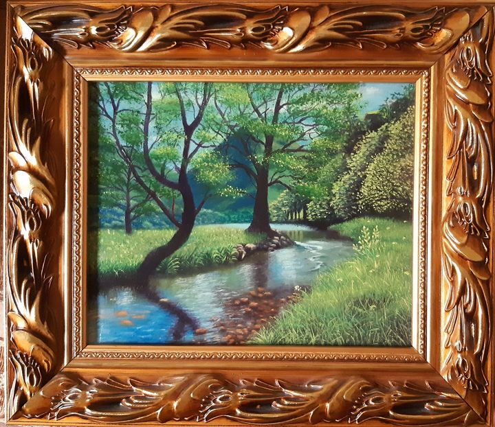 Landscape oil painting - Artistified