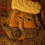Carved Santa Head - Kenneth's Art Gallery