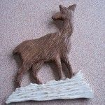 Decorative Wood Carved Deer - Kenneth's Art Gallery