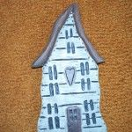 Wood Carved Halloween House - Kenneth's Art Gallery