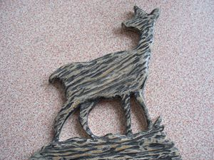 Wood Carved Deer