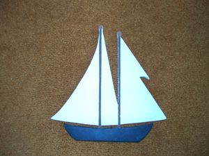 Hand Carved Sailboat